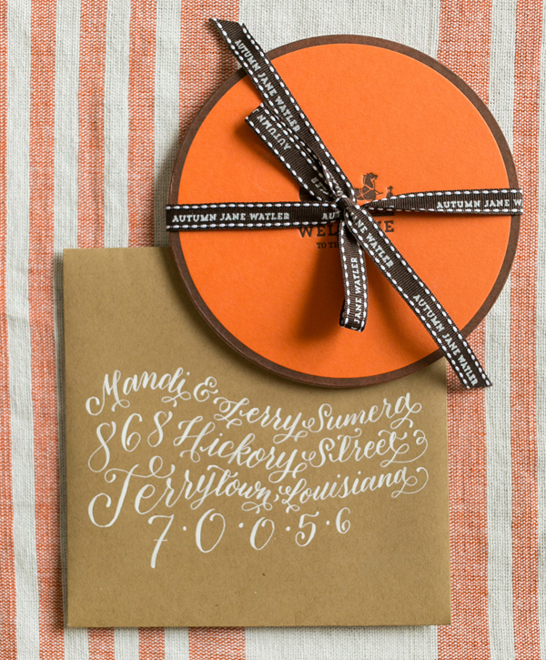 Hermès-Inspired Baby Announcements