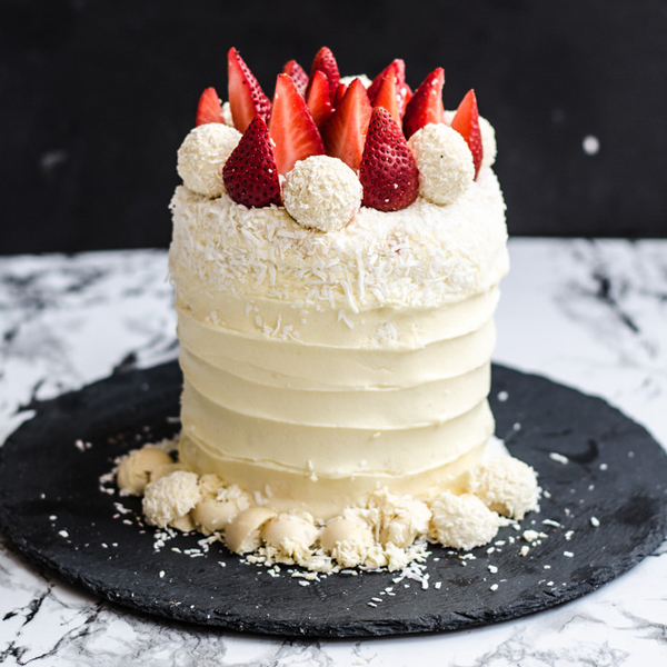 Strawberry White Velvet Cake Moonblush Baker Happy Weekend!