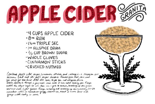 Apple Cider Granita Recipe Card Shauna Lynn Illustration OSBP Friday Happy Hour: Apple Cider Granita