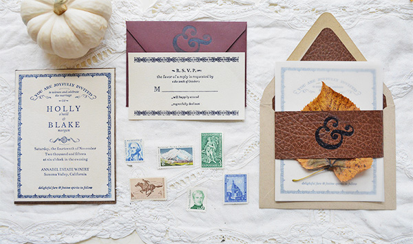 Autumn Literary Wedding Invitations Flyaway Paperworks OSBP Holly + Blakes Antique Book Inspired Wedding Invitations