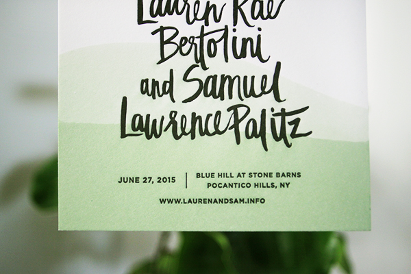 Dip Dye Hand Lettered Save the Dates Goodheart Design OSBP4 Lauren + Samuels Dip Dyed Save the Dates