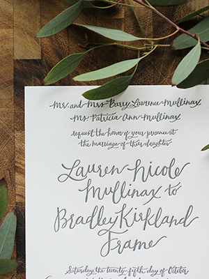 Rustic Calligraphy Wedding Invitation Goodheart Design OSBP11 Lauren + Bradleys Rustic Calligraphy Wedding Invitations