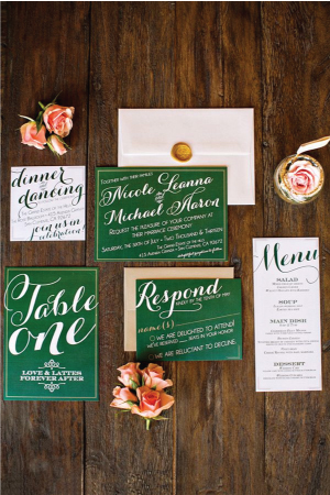 jewel tone wedding stationery 4 Wedding Stationery Inspiration: Jewel Tones