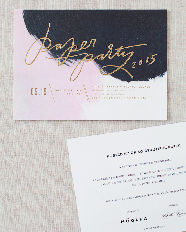 Paper Party 2015 Invitations!