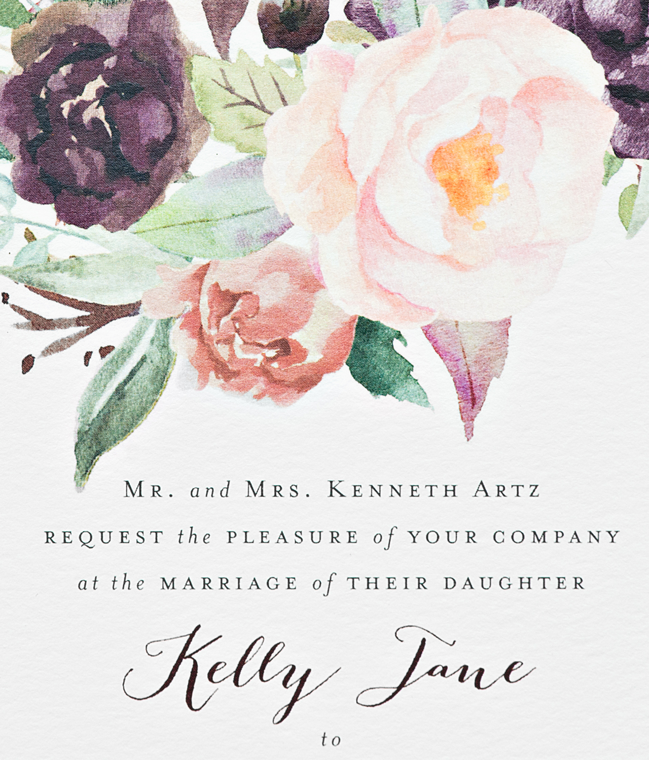 Fullsize Of Watercolor Wedding Invitations