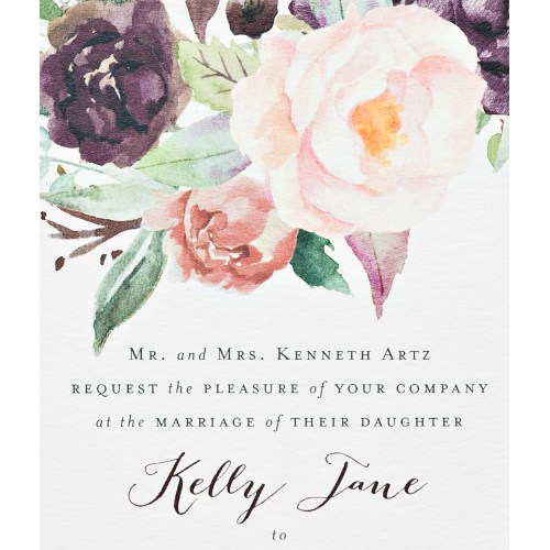 Medium Crop Of Watercolor Wedding Invitations
