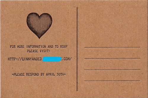Telegram Postcard Wedding Invitations - post card invitations