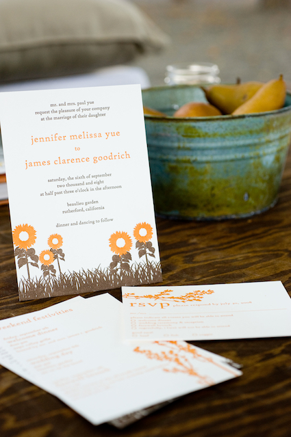 6a00e554ee8a2288330120a4e2b590970b 500wi Jennifer + James Sunflower Wedding Invitations