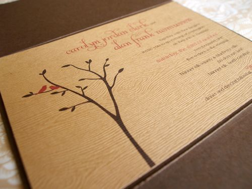 6a00e554ee8a2288330120a5286dfc970b 500wi Carolyn + Alans Rustic Woodgrain Wedding Invitations