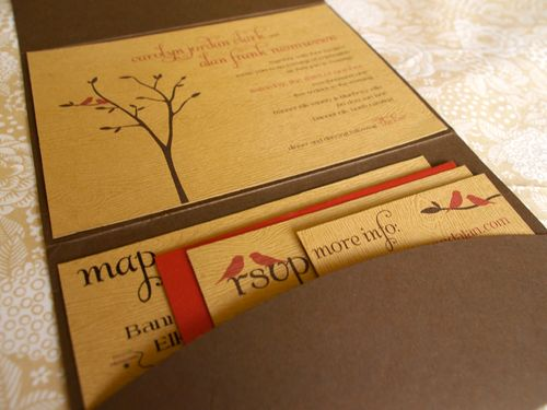 6a00e554ee8a2288330120a5286f55970b 500wi Carolyn + Alans Rustic Woodgrain Wedding Invitations