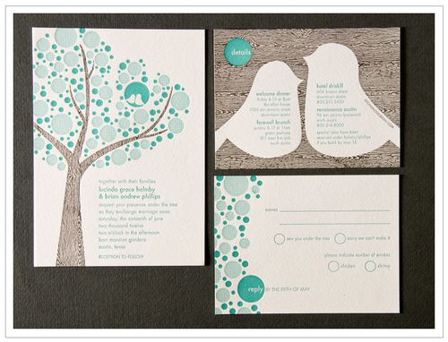 6a00e554ee8a2288330120a639f5ad970c 500wi Letterpress Lovebird Wedding Invitations