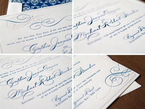 6a00e554ee8a2288330120a6a72028970c 500wi Cyd + Michaels Classic Elegant Wedding Invitations