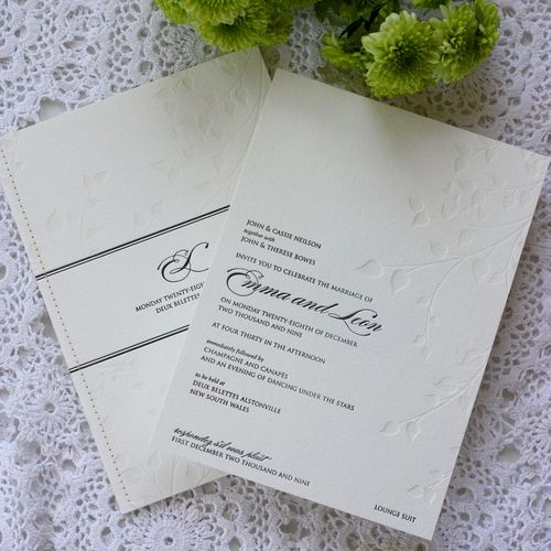 6a00e554ee8a2288330120a6af92b5970c 500wi White + Black Stitched Wedding Invitations