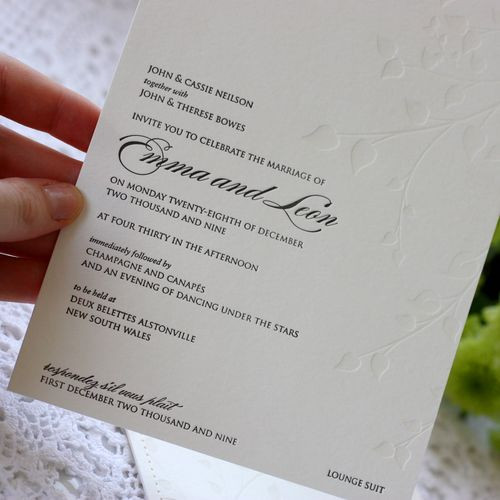 6a00e554ee8a2288330120a6af93da970c 500wi White + Black Stitched Wedding Invitations