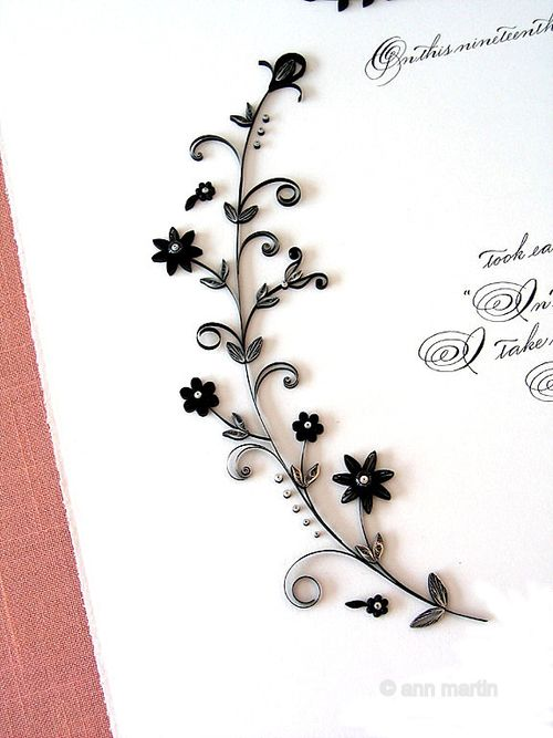 6a00e554ee8a2288330120a6c6e96c970b 500wi Quilled Marriage Certificate