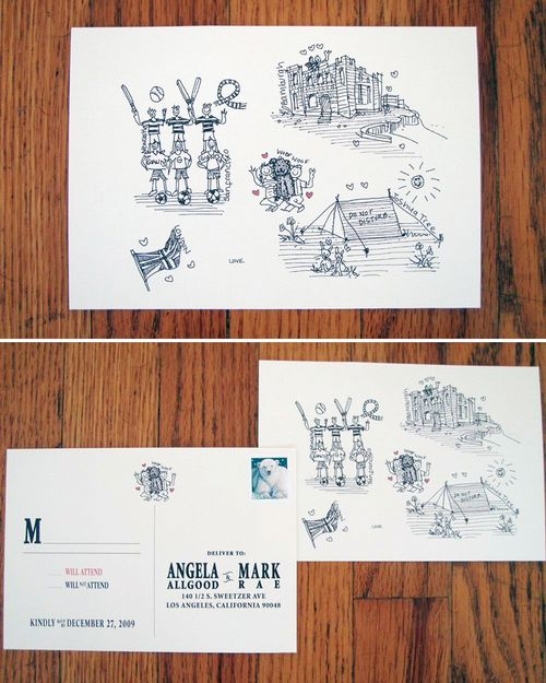6a00e554ee8a2288330120a76e42bb970b 500wi Angie + Marks Illustrated Wedding Invitations