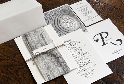 Jefferson Sarah39s Amazing Woodgrain Wedding Invitations