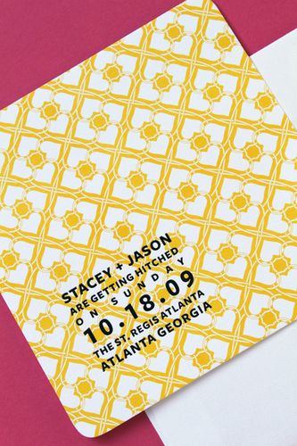 6a00e554ee8a2288330120a83c2bca970b 500pi Stacey + Jasons Modern Yellow and Gold Wedding Invitations