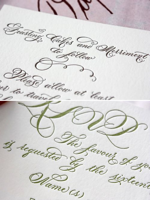 6a00e554ee8a2288330120a855c875970b 500wi Romantic Calligraphy from Danae Hernandez