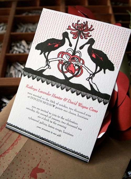 6a00e554ee8a2288330120a8a4ad3a970b 500wi Kathryn + Davids Coastal Louisiana Letterpress Wedding Invitations