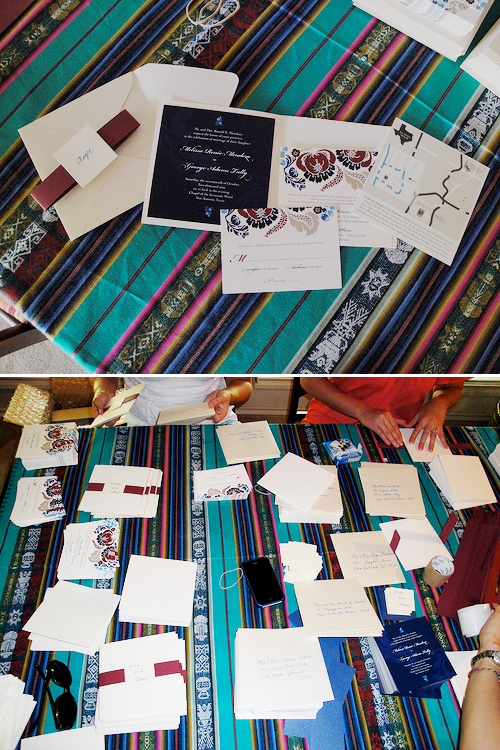 6a00e554ee8a2288330120a923e64a970b 500wi Melissa + Georges Vibrant Folk Art Wedding Invitations