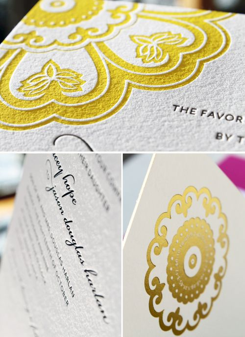 6a00e554ee8a2288330128773f75e1970c 500wi Stacey + Jasons Modern Yellow and Gold Wedding Invitations