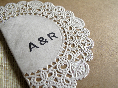 Raechel Alex39s Crafty Doily And Kraft Paper Wedding