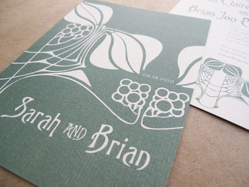 6a00e554ee8a228833013110058c9c970c 500wi Sarah + Brians Art Nouveau Wedding Invitations