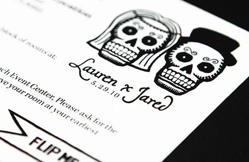 6a00e554ee8a2288330133ec7cd7ac970b 500wi Dia de los Muertos Wedding Invitations