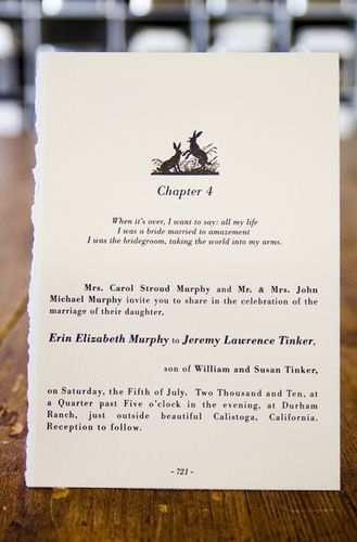 Erin + Jeremy\u0027s Literary Vintage-Inspired Wedding Invitations