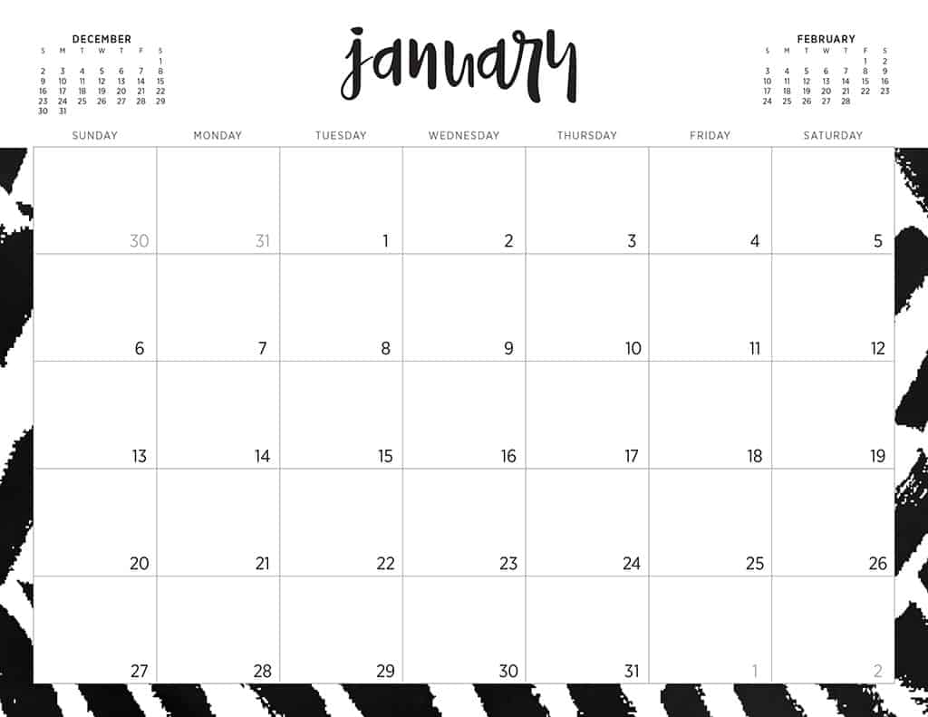 Calligraphy Templates Online Free 2019 Printable Calendars 46 Designs To Choose From