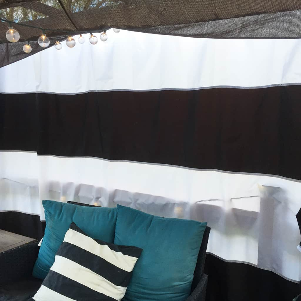 Diy Cabana Curtains Diy Cabana Update On A Budget Using Striped Shower Curtains