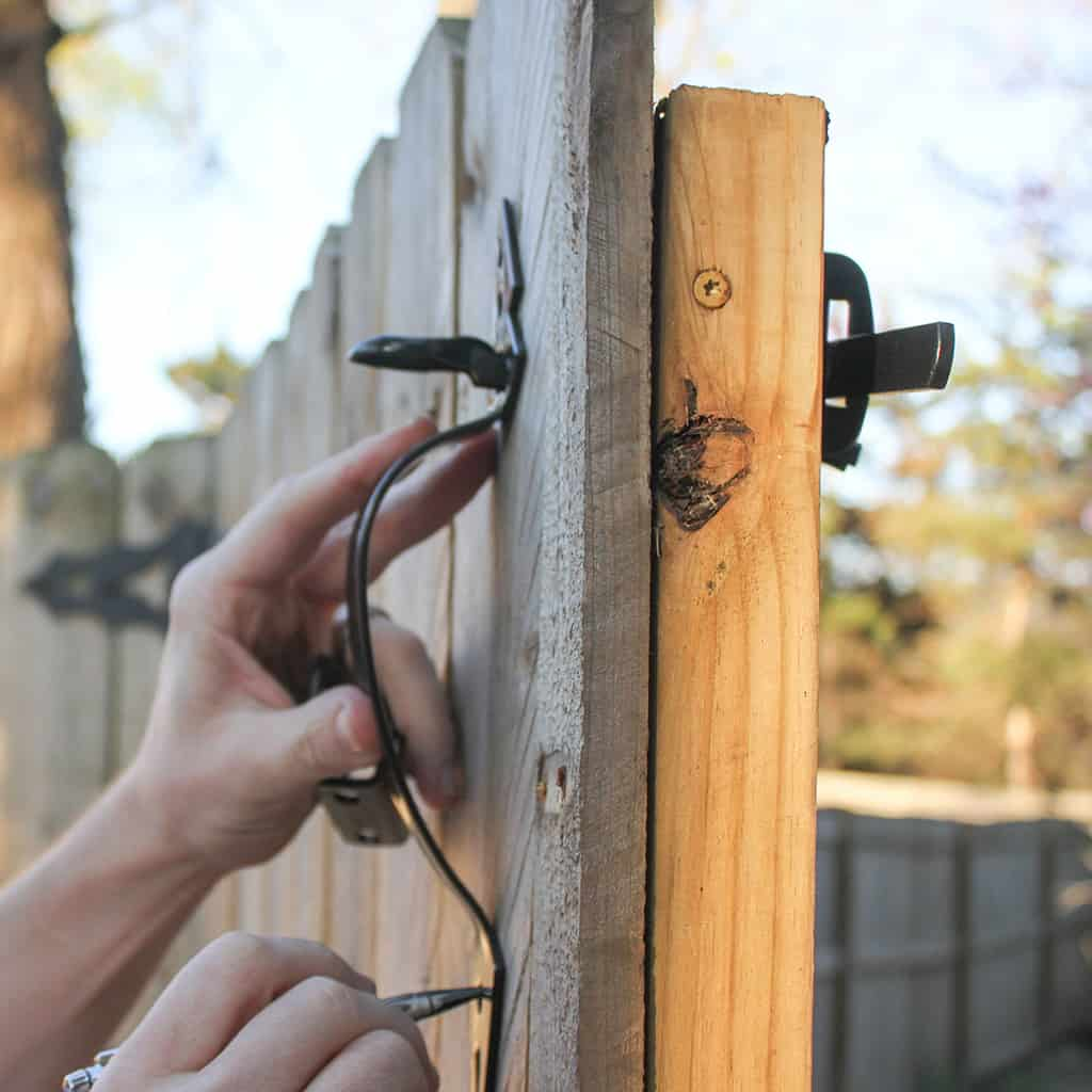 Gate Hardware Diy Tutorial Install National Hardware Gate Latch Giveaway