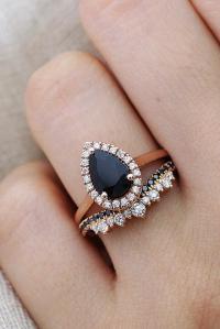 36 Unique Black Diamond Engagement Rings   Oh So Perfect ...