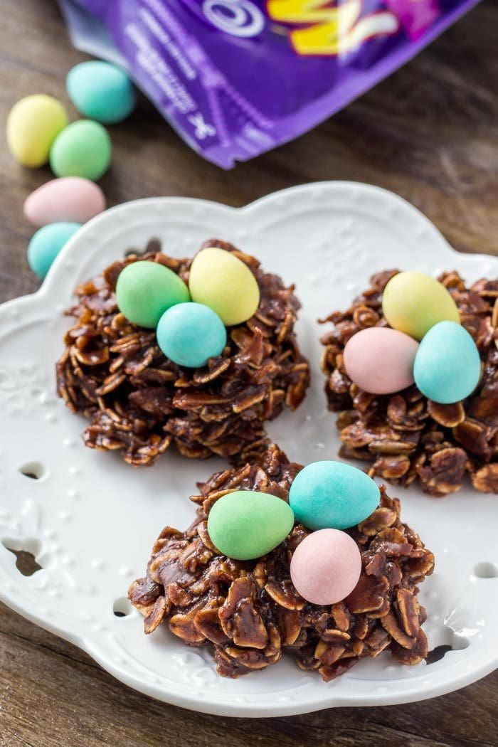Easy Easter Nest Cookies - Oh Sweet Basil