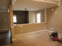 Living and Dining Room: The demo and refinishing of the