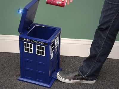 Doctor Who Tardis Garbage Bin