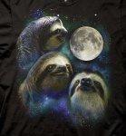 Three Sloth Moon T-shirt