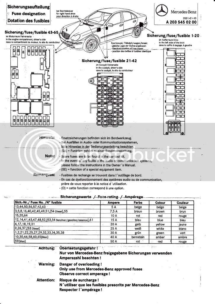 2004 mercedes c240 fuse diagram