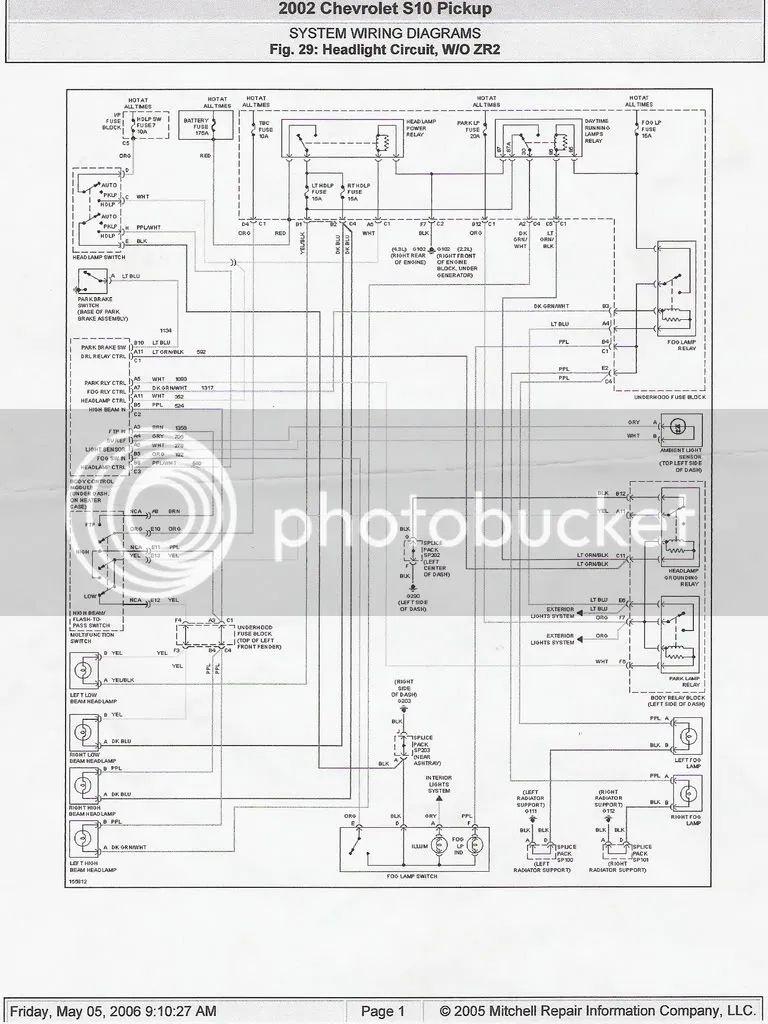 1998 s10 pickup wiring diagram