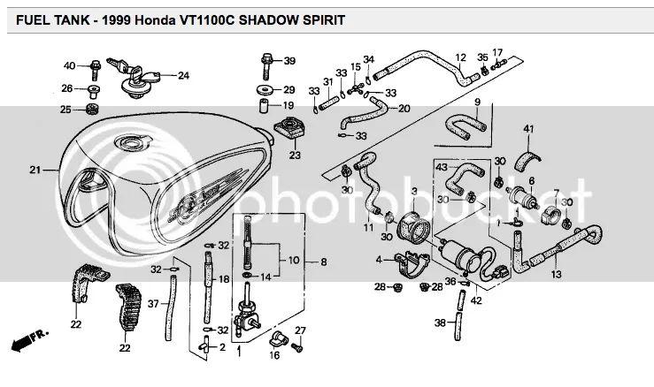 honda shadow fuel filter location