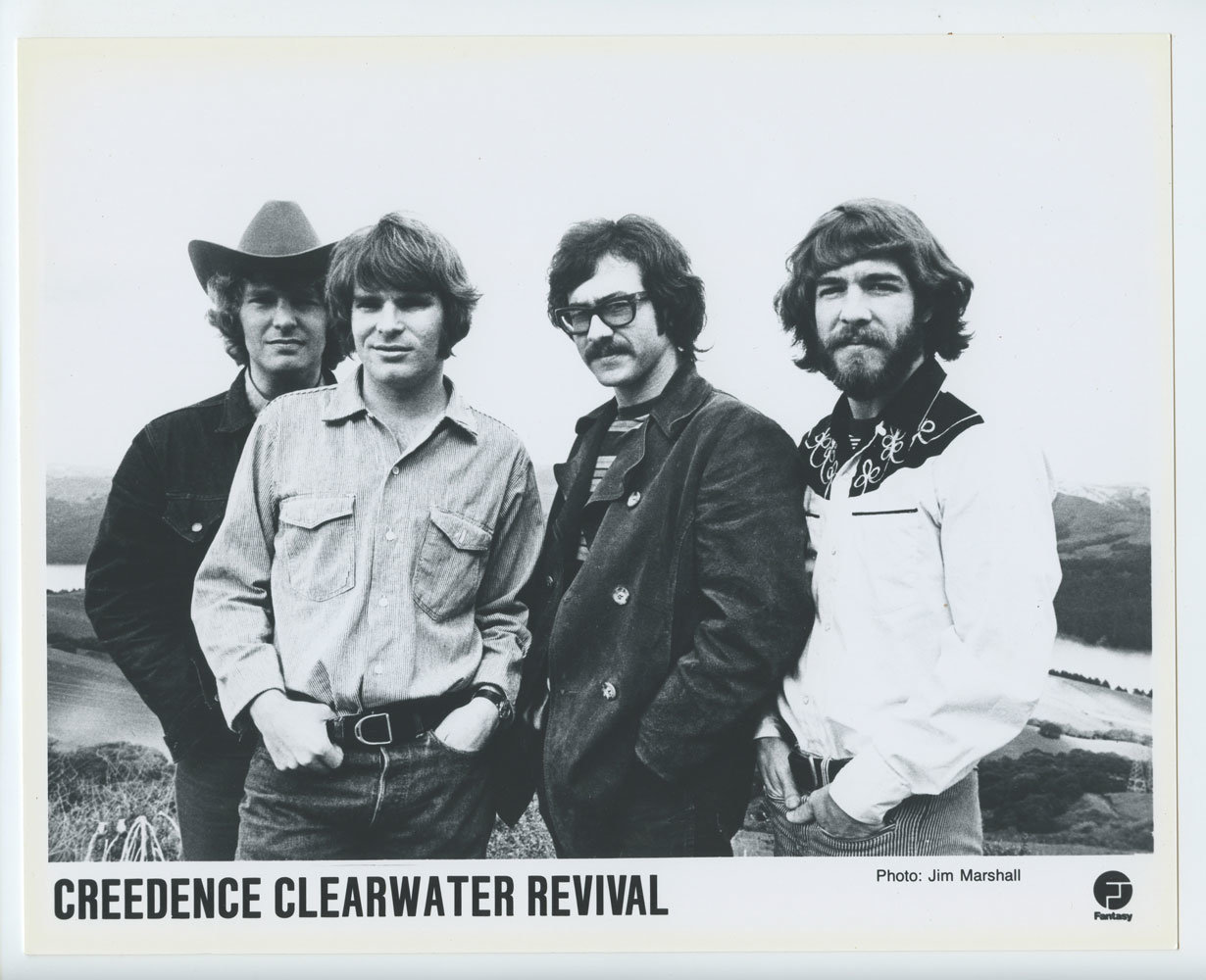 Credence Vintage Credence Clearwater Revival Bw 8 X 10 Promo Photo Original 1968