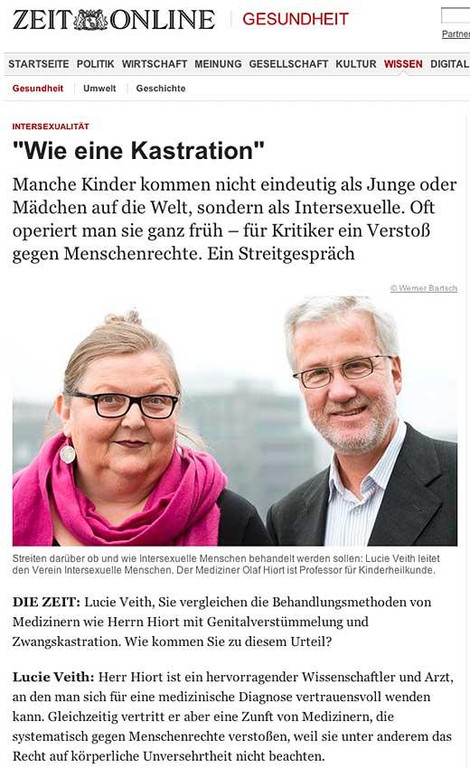 """Zeit Online: """"Wie eine Kastration"""" - click to read this article."""