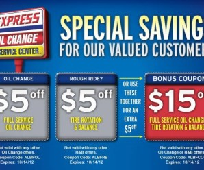 Save Time And Money With Express Oil Change Coupon