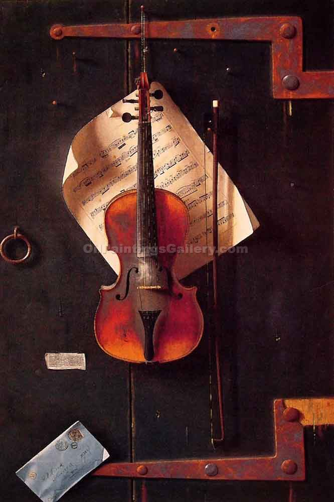 Cuadros De Violines The Old Violin By William Michael Harnett (painting Id: Ga