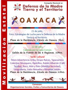 Cartel Final Movilización Oaxaca