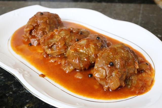 Carrilladas de cerdo en salsa