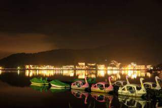 Night: Kawaguchi Lake - Yamanashi