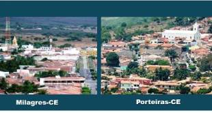 Porteiras e Milagres, estão entre as 34 cidades do CE com queda no número de habitantes