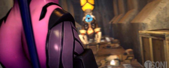 [Overwatch] 罠にかかったトレーサーをふたなりちんぽで強制イマラチオ [3DCG] (3)